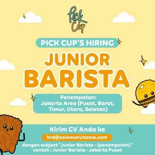 Lowongan Junior Barista Jakarta Indah Pratiwi Di Jakarta Pusat 25 Aug 2020 Loker Atmago Warga Bantu Warga