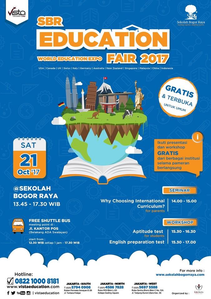 Sekolah bogor raya world education fair 2017