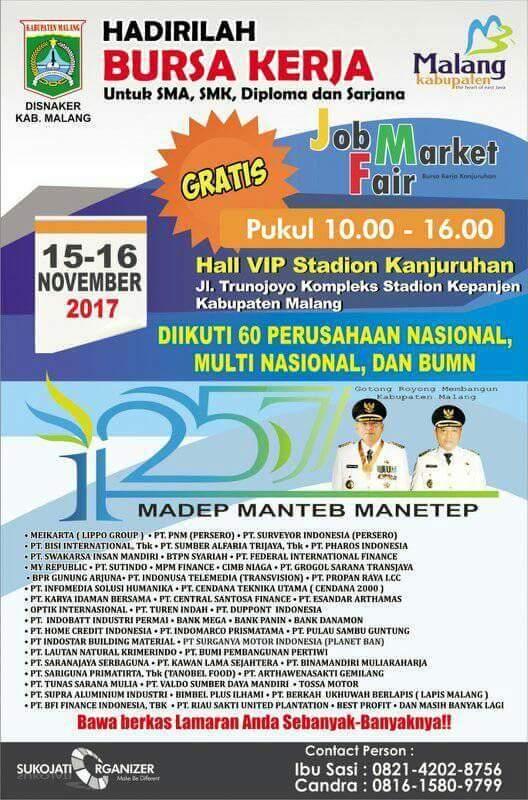 Job market fair malang 2017