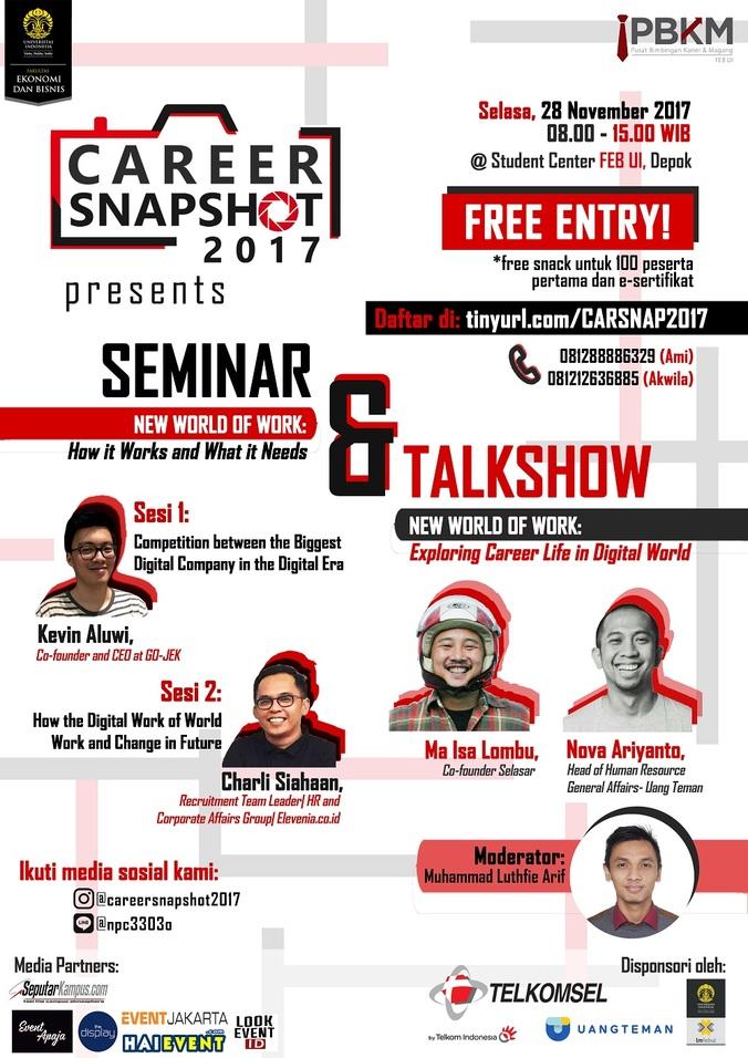 Career snapshot 2017 seminar   talkshow