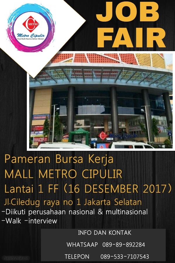 Job fair metro cipulir %e2%80%93 desember 2017