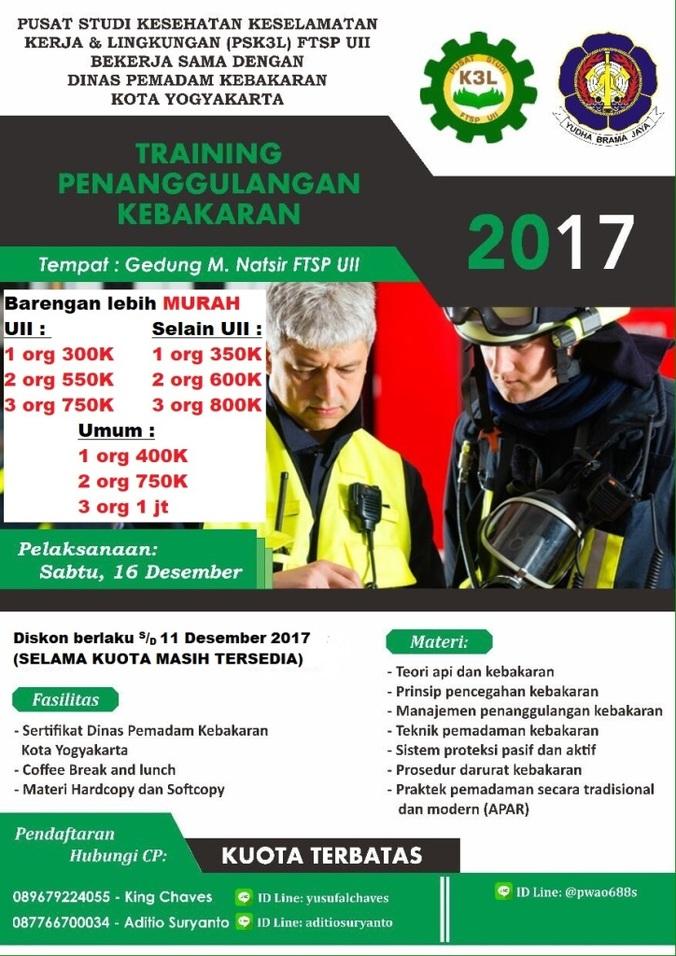 Training penanggulangan kebakaran