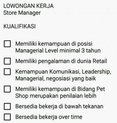 Store manager   kasir  groomer pet shop 3