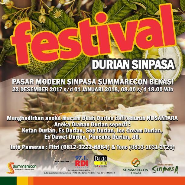 Festival durian sinpasa 2017