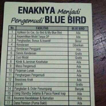 Lowongan pengemudi blue bird pool garuda