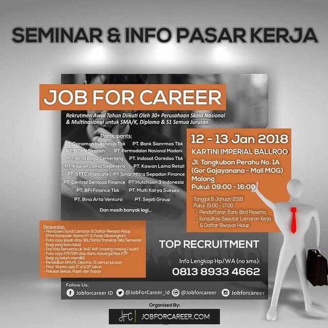Job for career malang %e2%80%93 januari 2018