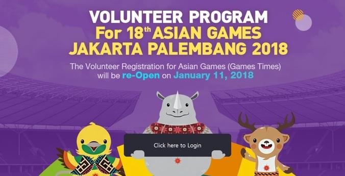 Mau berbakti bagi bangsa dan negara caranya mudah  yuk daftar jadi relawan asian games 2018