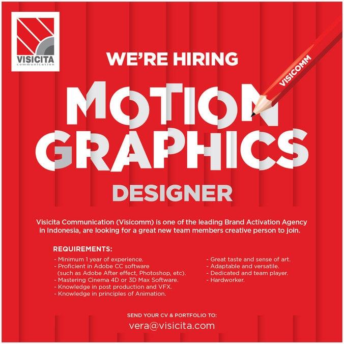 Motion graphics recruitment ad visicomm 01
