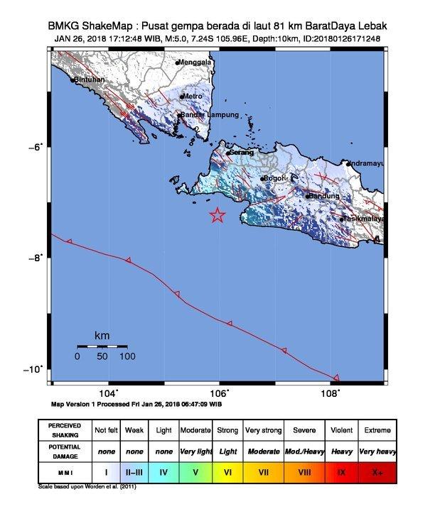 Sudah 53 kali gempa susulan di lebak  2.760 rumah rusak