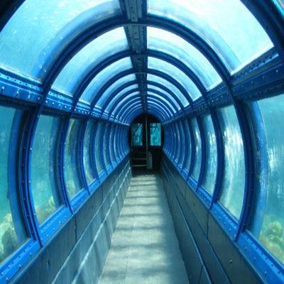 Underwater tunnel aquarium pulau putri