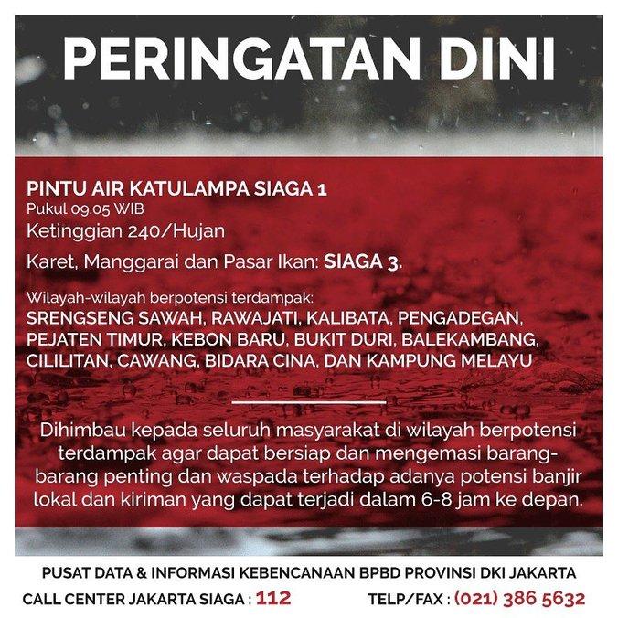 Jakarta siaga banjir   5 februari 2018