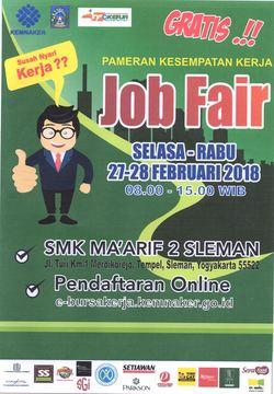Job fair sleman %e2%80%93 februari 2018